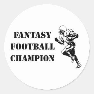 Campeón 2 del fútbol de la fantasía pegatina redonda