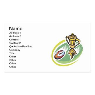 Campeón 2 del rugbi tarjetas de visita