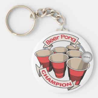Campeón adaptable de Pong de la cerveza Llavero Redondo Tipo Pin