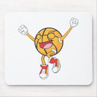 Campeón alegre del baloncesto alfombrillas de ratones