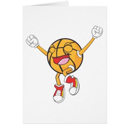 Campeón alegre del baloncesto tarjeta de felicitación