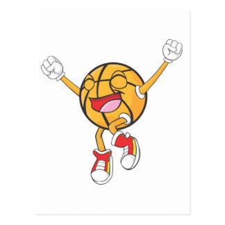 Campeón alegre del baloncesto postales