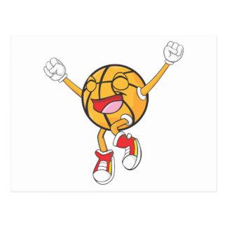 Campeón alegre del baloncesto tarjeta postal