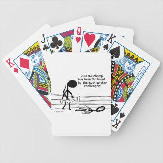 Campeón aplanado baraja cartas de poker