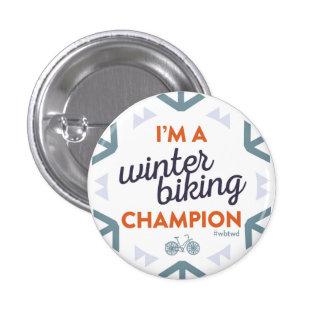 Campeón Biking del invierno - pequeño Pin