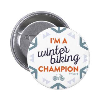 Campeón Biking del invierno - Pin grande