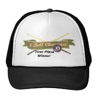 campeón de 8 bolas gorras de camionero