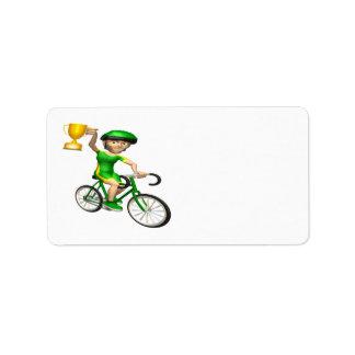 Campeón de ciclo 2 etiqueta de dirección