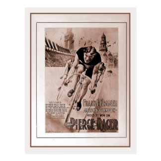 Campeón de ciclo americano de los 1900s del tarjeta postal