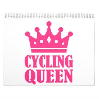 Campeón de ciclo de la reina calendario de pared