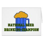 Campeón de consumición de la cerveza felicitacion