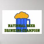 Campeón de consumición de la cerveza impresiones