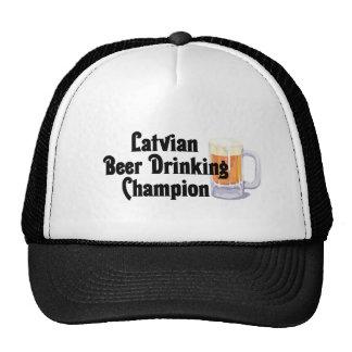 Campeón de consumición de la cerveza letona gorros