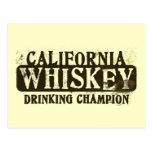 Campeón de consumición del whisky de California Postal