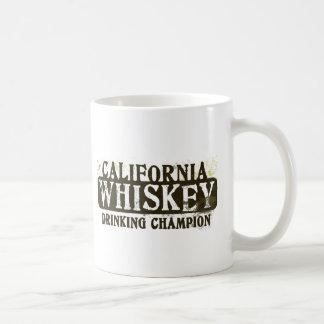 Campeón de consumición del whisky de California Taza De Café