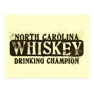Campeón de consumición del whisky de Carolina del Postales