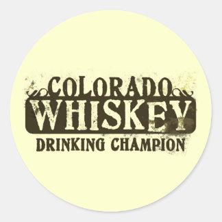 Campeón de consumición del whisky de Colorado Etiquetas Redondas