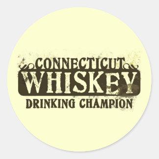 Campeón de consumición del whisky de Connecticut Etiqueta Redonda