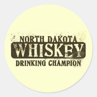 Campeón de consumición del whisky de Dakota del Etiquetas Redondas