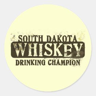 Campeón de consumición del whisky de Dakota del Etiqueta Redonda