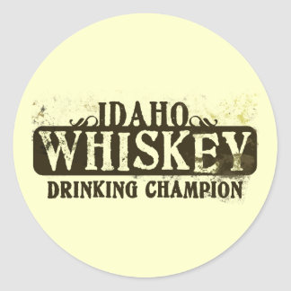 Campeón de consumición del whisky de Idaho Etiqueta Redonda
