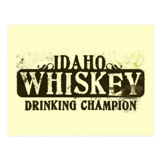 Campeón de consumición del whisky de Idaho Tarjeta Postal