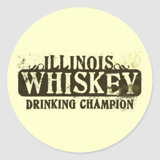 Campeón de consumición del whisky de Illinois Etiquetas Redondas