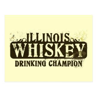 Campeón de consumición del whisky de Illinois Postales