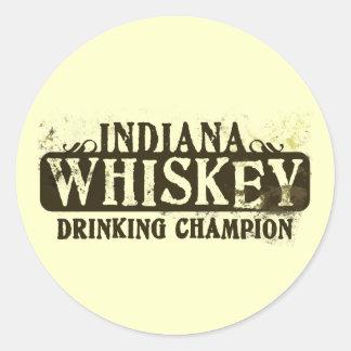 Campeón de consumición del whisky de Indiana Etiqueta Redonda