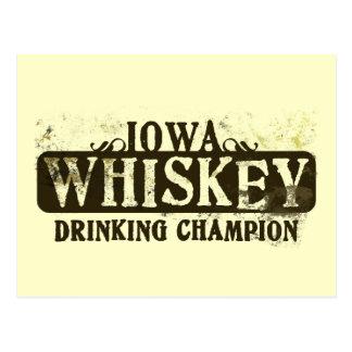 Campeón de consumición del whisky de Iowa Tarjeta Postal