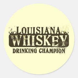 Campeón de consumición del whisky de Luisiana Etiquetas Redondas