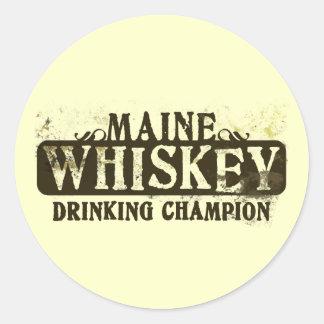 Campeón de consumición del whisky de Maine Etiqueta Redonda