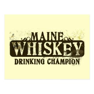 Campeón de consumición del whisky de Maine Postales