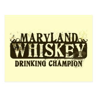 Campeón de consumición del whisky de Maryland Tarjetas Postales
