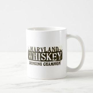 Campeón de consumición del whisky de Maryland Taza De Café