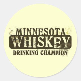 Campeón de consumición del whisky de Minnesota Etiquetas Redondas