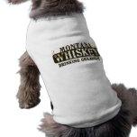 Campeón de consumición del whisky de Montana Playera Sin Mangas Para Perro