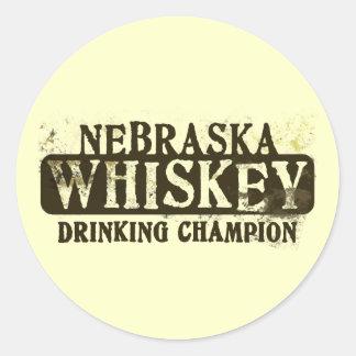 Campeón de consumición del whisky de Nebraska Etiqueta Redonda