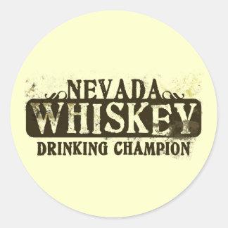 Campeón de consumición del whisky de Nevada Etiquetas Redondas
