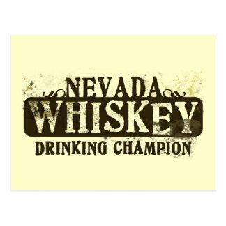 Campeón de consumición del whisky de Nevada Tarjeta Postal