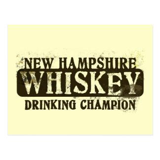 Campeón de consumición del whisky de New Hampshire Tarjeta Postal
