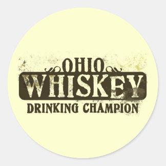 Campeón de consumición del whisky de Ohio Etiqueta Redonda