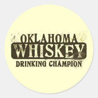 Campeón de consumición del whisky de Oklahoma Etiqueta Redonda
