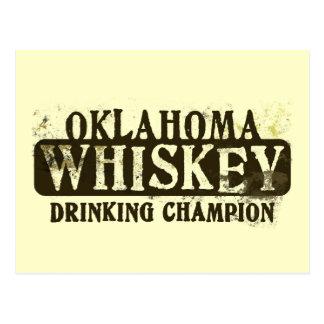 Campeón de consumición del whisky de Oklahoma Tarjetas Postales