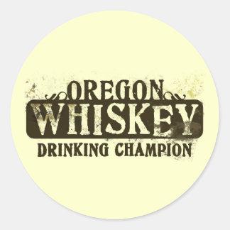 Campeón de consumición del whisky de Oregon Etiqueta Redonda