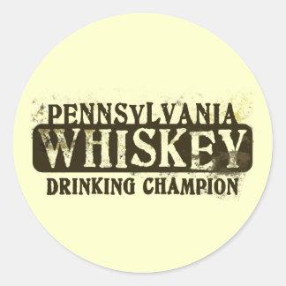 Campeón de consumición del whisky de Pennsylvania Etiqueta Redonda