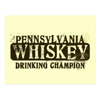 Campeón de consumición del whisky de Pennsylvania Tarjeta Postal