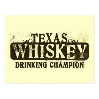 Campeón de consumición del whisky de Tejas Postal
