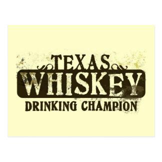 Campeón de consumición del whisky de Tejas Tarjetas Postales