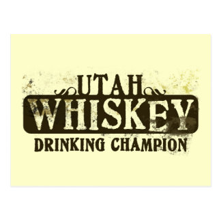 Campeón de consumición del whisky de Utah Postales
